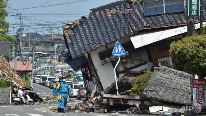 Động đất ở Nhật 15/4/2016