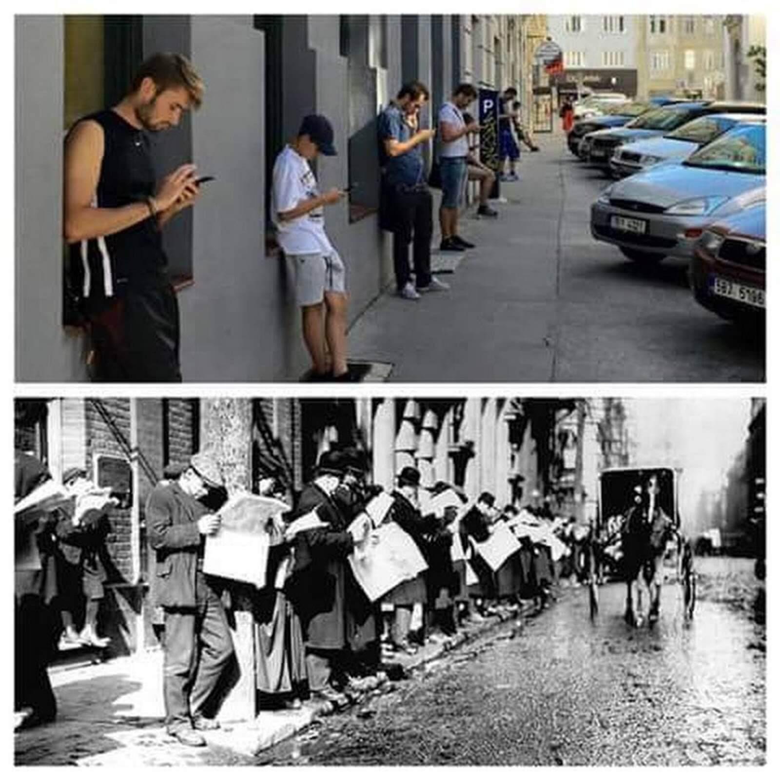 Con người lúc công nghệ mới phát triển và hiện tại