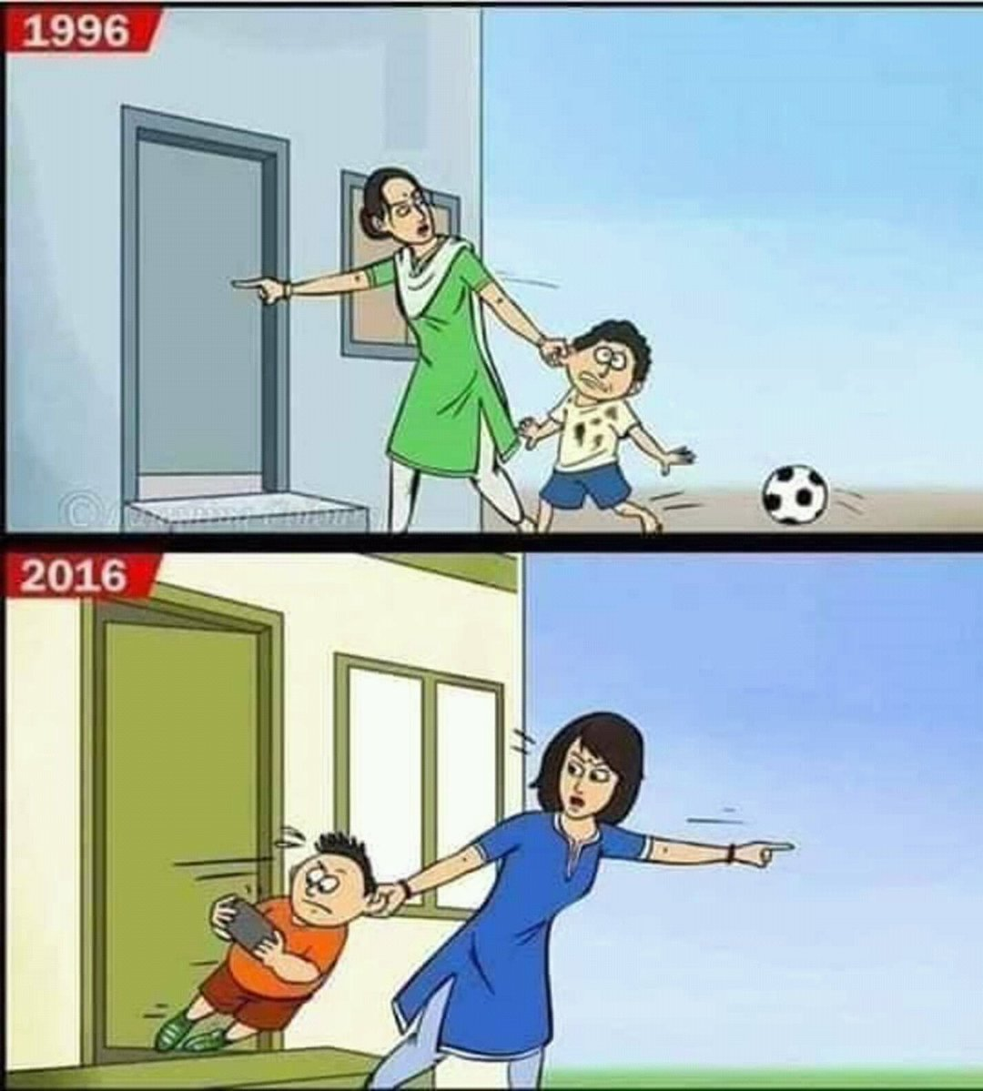 Trẻ em trước đây và bây giờ
