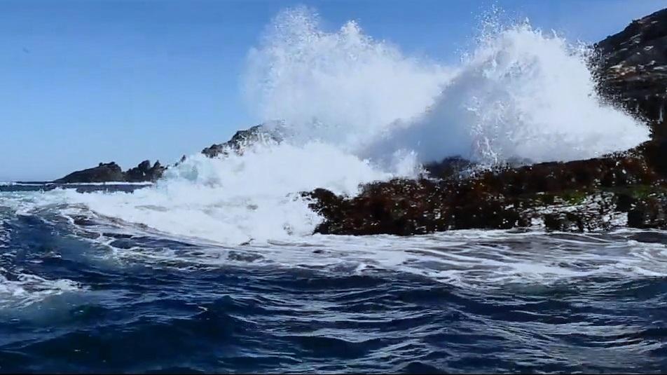 Khoảnh khắc sóng biển vỗ bờ